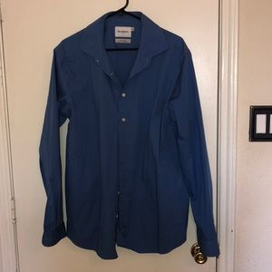 Blue Long Sleeved Button Up